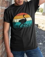 Vintage Ostrich - Funny Retro Bird Costume Classic T-Shirt apparel-classic-tshirt-lifestyle-27