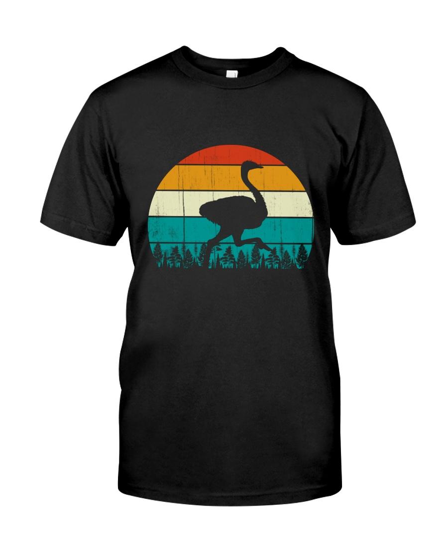 Vintage Ostrich - Funny Retro Bird Costume Classic T-Shirt
