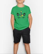 Funny Unicorn Mardi Gras - Youth T- Shirt Youth T-Shirt lifestyle-youth-tshirt-front-1