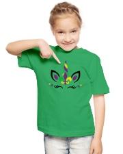 Funny Unicorn Mardi Gras - Youth T- Shirt Youth T-Shirt lifestyle-youth-tshirt-front-2