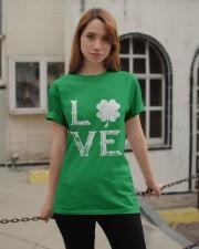 Vintage Love Shamrock Irish St Patrick's Day Classic T-Shirt apparel-classic-tshirt-lifestyle-19