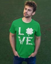 Vintage Love Shamrock Irish St Patrick's Day Classic T-Shirt apparel-classic-tshirt-lifestyle-front-43
