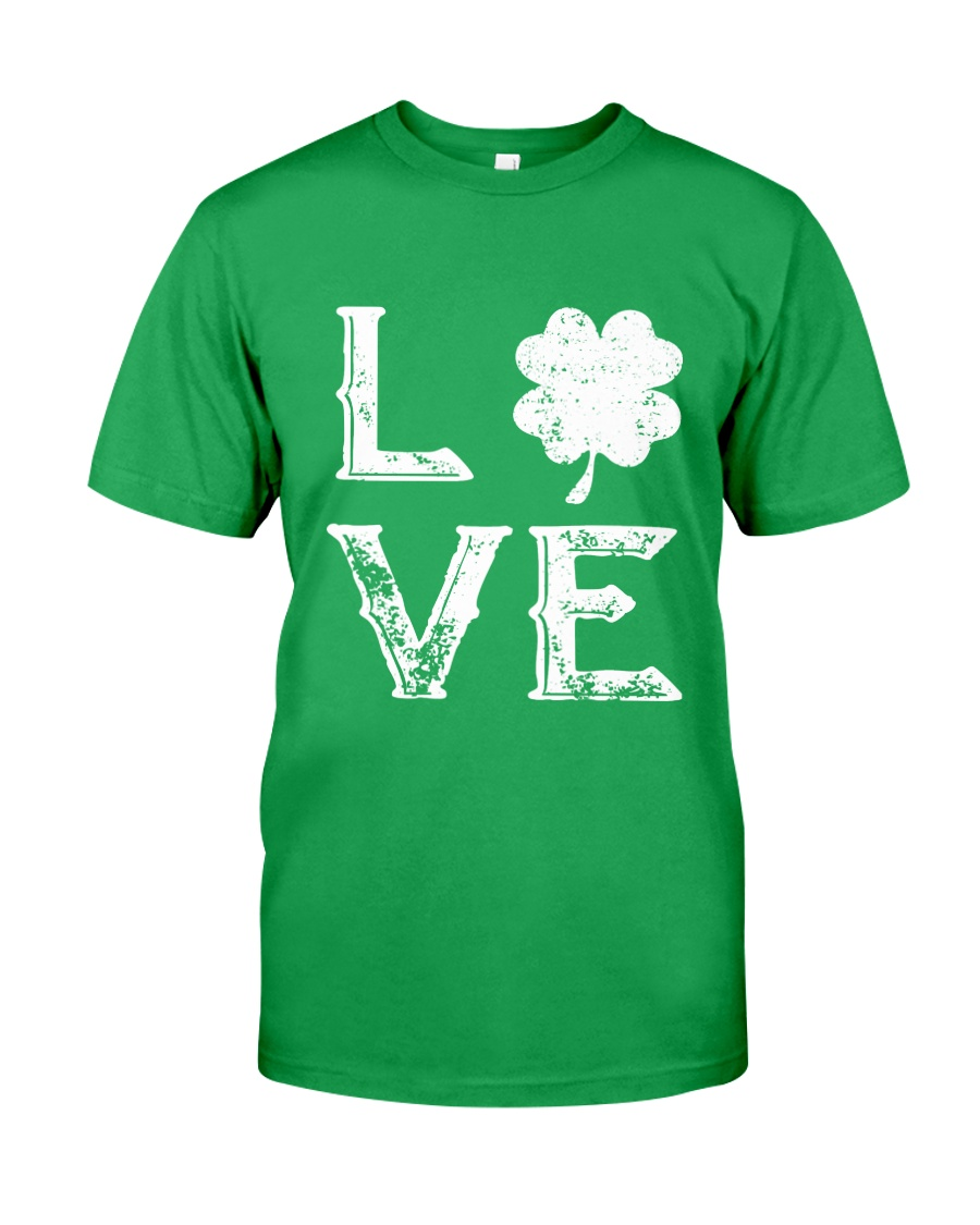 Vintage Love Shamrock Irish St Patrick's Day Classic T-Shirt