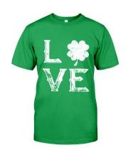 Vintage Love Shamrock Irish St Patrick's Day Classic T-Shirt front