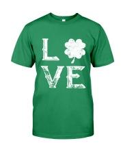Vintage Love Shamrock Irish St Patrick's Day Premium Fit Mens Tee thumbnail