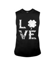 Vintage Love Shamrock Irish St Patrick's Day Sleeveless Tee thumbnail