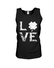 Vintage Love Shamrock Irish St Patrick's Day Unisex Tank thumbnail