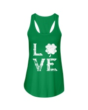 Vintage Love Shamrock Irish St Patrick's Day Ladies Flowy Tank thumbnail