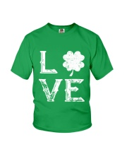 Vintage Love Shamrock Irish St Patrick's Day Youth T-Shirt thumbnail