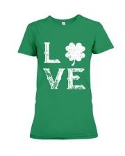 Vintage Love Shamrock Irish St Patrick's Day Premium Fit Ladies Tee thumbnail
