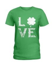 Vintage Love Shamrock Irish St Patrick's Day Ladies T-Shirt thumbnail