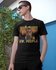 Ew People - Funny Bear Drinking Beer Camping Classic T-Shirt apparel-classic-tshirt-lifestyle-17