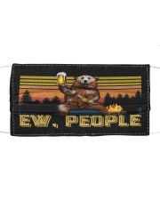Ew People - Funny Bear Drinking Beer Camping Cloth face mask thumbnail