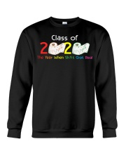 Class Of 2020 Year When Shit Got Real Graduation Crewneck Sweatshirt thumbnail