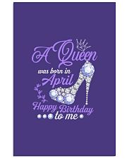 A Queen Was Born In April  Happy Birthday 11x17 Poster thumbnail