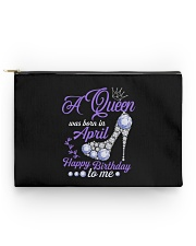 A Queen Was Born In April  Happy Birthday Accessory Pouch - Standard thumbnail