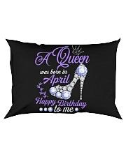 A Queen Was Born In April  Happy Birthday Rectangular Pillowcase thumbnail