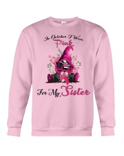 In October I Wear Pink For My Sister Gnome  Crewneck Sweatshirt thumbnail