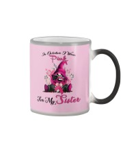 In October I Wear Pink For My Sister Gnome  Color Changing Mug thumbnail