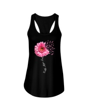 Faith Hope Love Pink Ribbon Daisy Flower Ladies Flowy Tank thumbnail