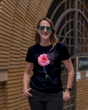 Faith Hope Love Pink Ribbon Daisy Flower Ladies T-Shirt lifestyle-women-crewneck-front-2