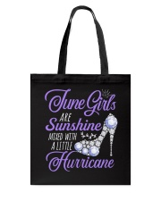 June Girls Are Sunshine Mixed With Hurricane Tote Bag thumbnail