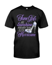 June Girls Are Sunshine Mixed With Hurricane Classic T-Shirt thumbnail