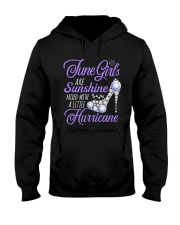 June Girls Are Sunshine Mixed With Hurricane Hooded Sweatshirt tile