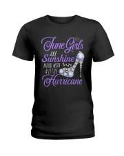 June Girls Are Sunshine Mixed With Hurricane Ladies T-Shirt tile