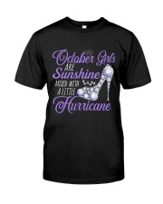 October Girls Are Sunshine Mixed With Hurricane Classic T-Shirt thumbnail