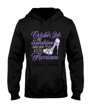October Girls Are Sunshine Mixed With Hurricane Hooded Sweatshirt thumbnail