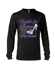 October Girls Are Sunshine Mixed With Hurricane Long Sleeve Tee thumbnail