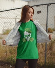 Funny Skeleton Skull Shamrock St Patrick's Day  Classic T-Shirt apparel-classic-tshirt-lifestyle-07