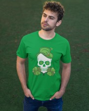 Funny Skeleton Skull Shamrock St Patrick's Day  Classic T-Shirt apparel-classic-tshirt-lifestyle-front-43