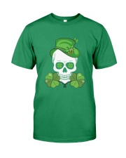 Funny Skeleton Skull Shamrock St Patrick's Day  Premium Fit Mens Tee tile