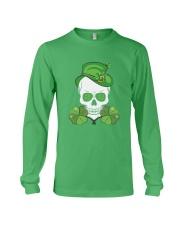 Funny Skeleton Skull Shamrock St Patrick's Day  Long Sleeve Tee thumbnail