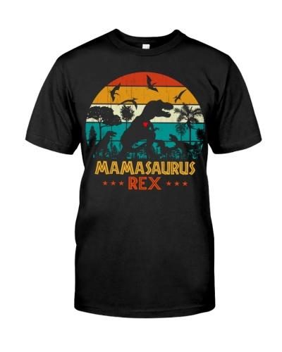 Mamasaurus Rex Mom - Three Kids Dinosaur Mother's