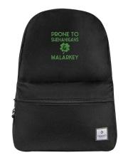 Vintage Prone To Shenanigans And Malarkey  Backpack thumbnail