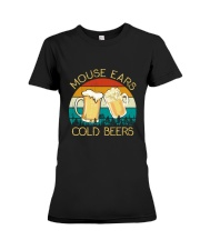 Mouse Ears And Cold Beers - Funny Beer Drinking  Premium Fit Ladies Tee thumbnail