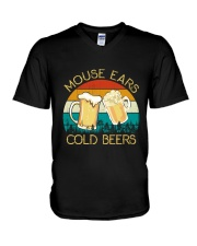 Mouse Ears And Cold Beers - Funny Beer Drinking  V-Neck T-Shirt thumbnail