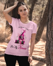 In October I Wear Pink For My Nonnie Gnome  Ladies T-Shirt apparel-ladies-t-shirt-lifestyle-06