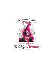 In October I Wear Pink For My Nonnie Gnome  Sticker - Single (Vertical) thumbnail
