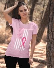 USA Flag Breast Cancer Awareness Pink Ribbon Ladies T-Shirt apparel-ladies-t-shirt-lifestyle-06