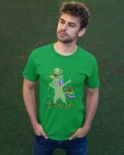 Lepricorn Leprechaun Unicorn Shamrock St Patrick' Classic T-Shirt apparel-classic-tshirt-lifestyle-front-43