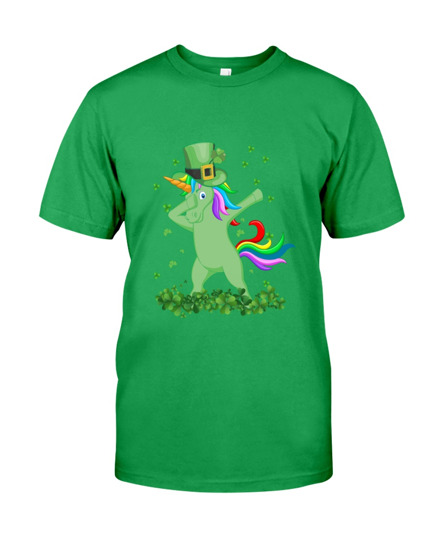 Lepricorn Leprechaun Unicorn Shamrock St Patrick' Classic T-Shirt