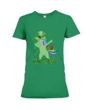 Lepricorn Leprechaun Unicorn Shamrock St Patrick' Premium Fit Ladies Tee thumbnail
