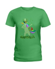 Lepricorn Leprechaun Unicorn Shamrock St Patrick' Ladies T-Shirt thumbnail
