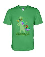 Lepricorn Leprechaun Unicorn Shamrock St Patrick' V-Neck T-Shirt thumbnail