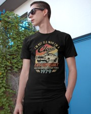 Classic Car - 41 Years Old Matching Birthday Tee  Classic T-Shirt apparel-classic-tshirt-lifestyle-17