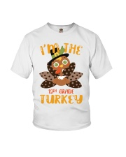 I'm The 12th Grade Turkey Thanksgiving Youth T-Shirt front